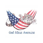 God Bless America Kitten Custom Night Shirt
