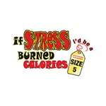 If Stress Burned Calories Custom Nightshirt