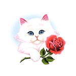 Kitten With Rose Custom Nightshirt