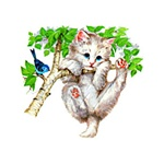 Kitten in Tree Custom Nightshirt