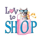 Love Shopping Cat Custom Nightshirt