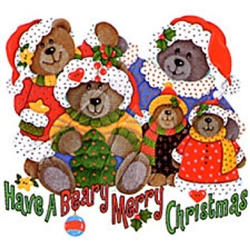 Beary Merry Christmas Custom Nightshirt
