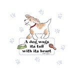 Dog Wags Its Tail With Its Heart Dog Night Shirt