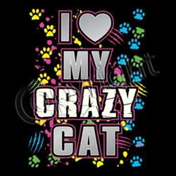 Love My Crazy Cat Custom Nightshirt