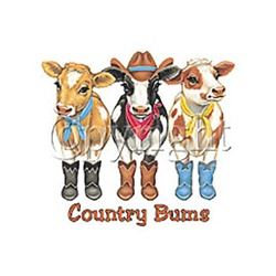 Country Bums Cow Nightshirt