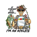 Fishing Athlete Custom Nightshirt