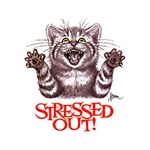 Stressed Out Cat With Claws Custom Nightshirt