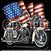 Motorcycle with Flag Custom Nightshirt