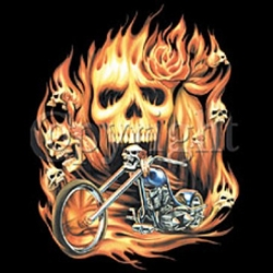 Motorcycle with Skull Custom Nightshirt
