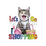Let's Go Shopping Kitten Custom Night Shirt